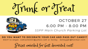 Trunk or Treat @ SSPP Main Church Parking Lot